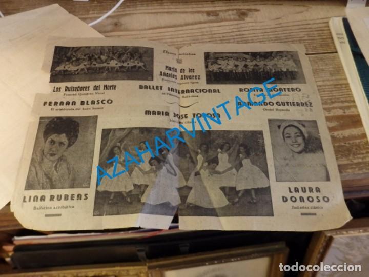Documentos antiguos: CARTAGENA, 1943, TEATRO-CIRCO , PROGRAMA ESPECTACULO FANTASIAS, SACHA GOUDINET - Foto 2 - 139615994