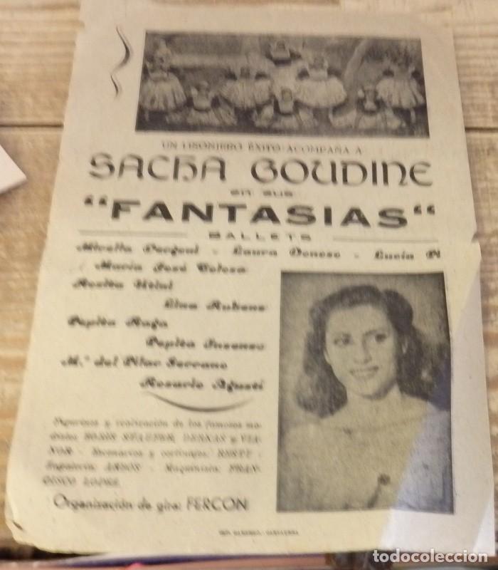 Documentos antiguos: CARTAGENA, 1943, TEATRO-CIRCO , PROGRAMA ESPECTACULO FANTASIAS, SACHA GOUDINET - Foto 3 - 139615994