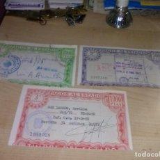 Documentos antiguos: 3 PAGOS AL ESTADO 1ª, 3ª Y 5ª CLASE AÑOS 70. Lote 139711490