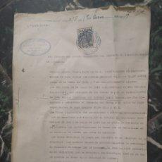 Documentos antiguos: 1939, ZARAGOZA, LIQUIDACIÓN DE IMPUESTOS DE DERECHOS REALES. ABOGACIA DEL ESTADO.. Lote 140509334