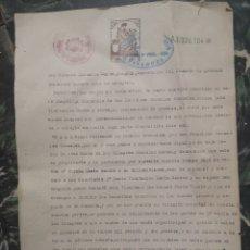 Documentos antiguos: 1937, ZARAGOZA, DOCUMENTO DEMANDA, PROPIEDAD HERENCIA,. Lote 140512326