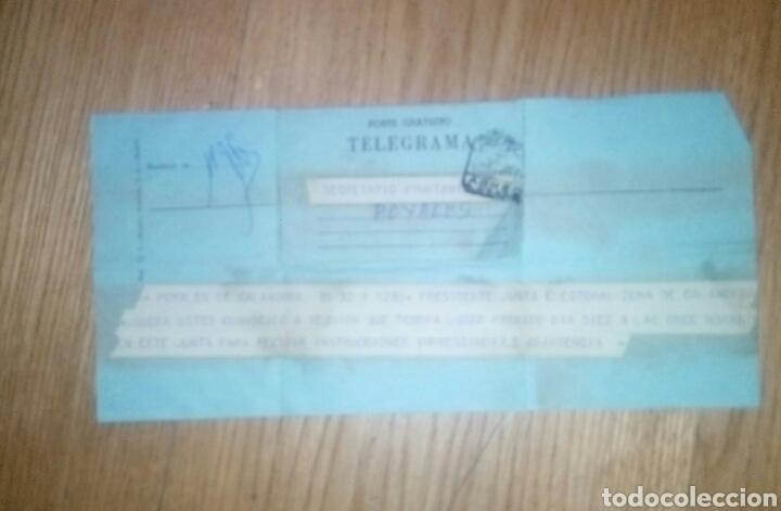Documentos antiguos: Telegrama Junta Electoral Elecciones 1977 - Foto 2 - 140565386