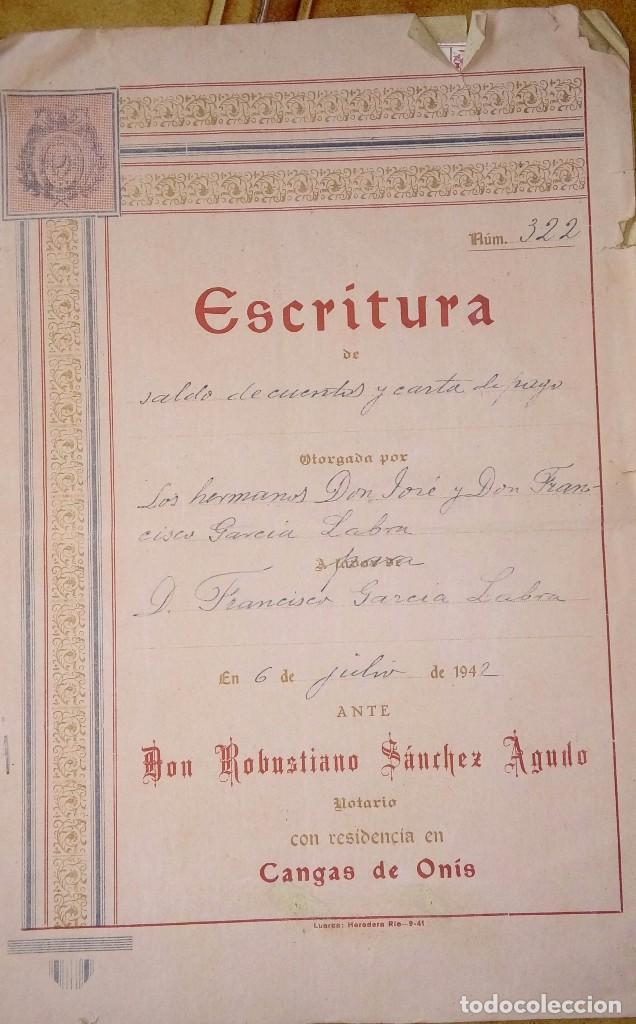 ESCRITURA NOTARIAL (Coleccionismo - Documentos - Otros documentos)