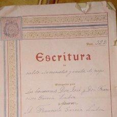 Documentos antiguos: ESCRITURA NOTARIAL. Lote 140592878