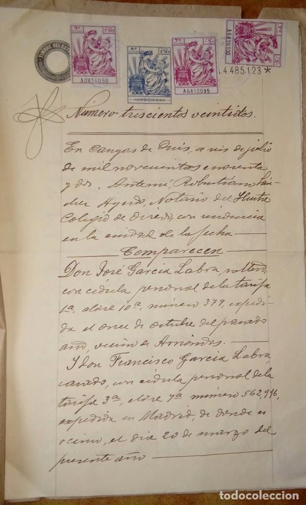 Documentos antiguos: Escritura notarial - Foto 2 - 140592878