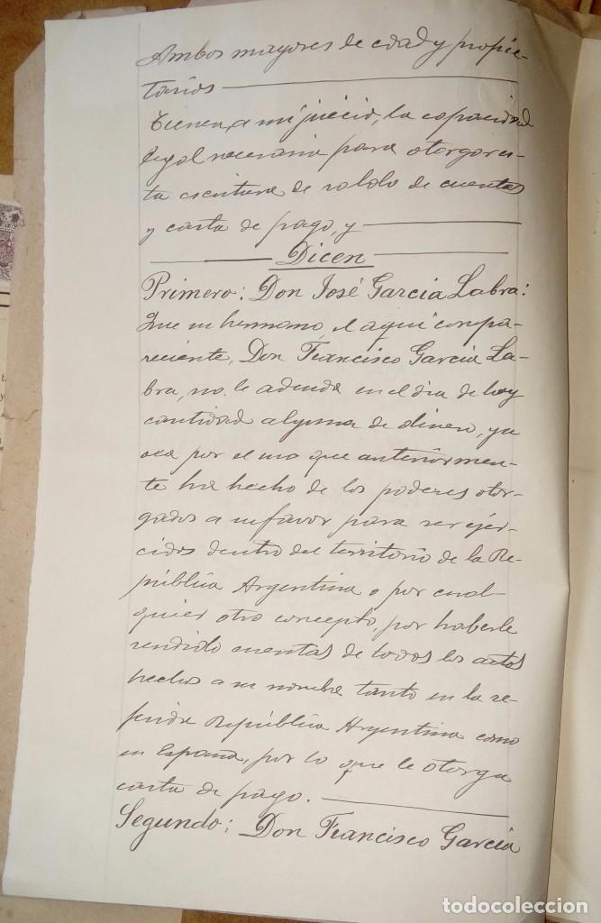 Documentos antiguos: Escritura notarial - Foto 3 - 140592878