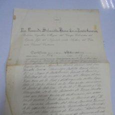 Documentos antiguos: CERTIFICADO DE DEFUNCION DE DON PRUDENCIO DE GUADALAJARA AGUILERA. DUQUE DE CASTRO-TERREÑO.. Lote 140837702