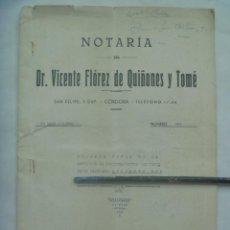 Documentos antiguos: NOTARIA DE CORDOBA: TESTAMENTO DE CORONEL GUARDIA CIVIL FALLECIDO EN 1939. VIÑETAS, CUÑOS, ETC. Lote 140903646
