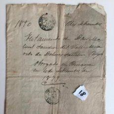 Documentos antiguos: TESTAMENTO BENAOJAN 1879 , RONDA , MÁLAGA , . Lote 140906710