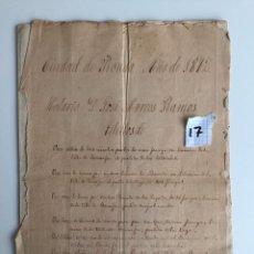 Documentos antiguos: DOCUMENTO NOTARIA 1872 , RONDA , MÁLAGA , TITULOS DE PROPIEDAD . Lote 140907350