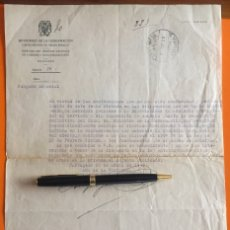 Documentos antiguos: CARTAGENA- MURCIA- GUERRA CIVIL - FUNCIONARIOS CORREOS - ABRIL 1.939. Lote 140970338