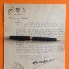 Documentos antiguos: BENIAJAN - MURCIA- GUERRA CIVIL- FUNCIONARIOS CORREOS- AÑO 1.940. Lote 140972598