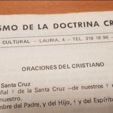 Documentos antiguos: TRÍPTICO ORIGINAL CATECISMO DOCTRINA CRISTIANA IMPRESO ÉPOCA DICTADURA. Lote 141272542