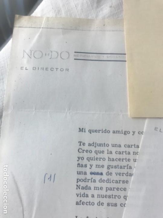 Documentos antiguos: GRAN LOTE DE DOCUMENTOS Y CARTAS DEL DIRECTOR DEL NO-DO MIGUEL MARTIN 1977. VER FOTOS ANEXAS. - Foto 4 - 141811934