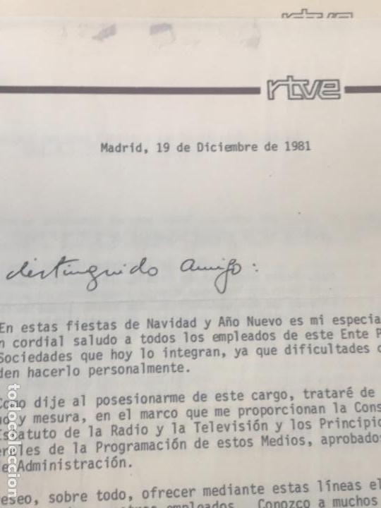 Documentos antiguos: GRAN LOTE DE DOCUMENTOS Y CARTAS DEL DIRECTOR DEL NO-DO MIGUEL MARTIN 1977. VER FOTOS ANEXAS. - Foto 8 - 141811934