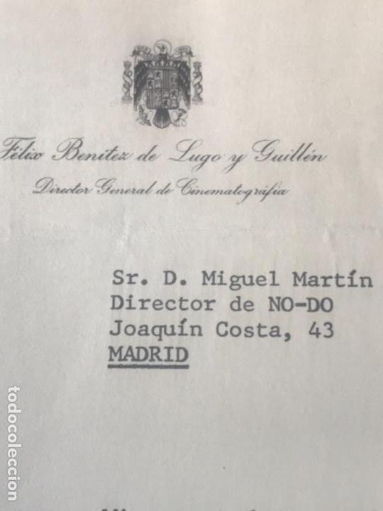 Documentos antiguos: GRAN LOTE DE DOCUMENTOS Y CARTAS DEL DIRECTOR DEL NO-DO MIGUEL MARTIN 1977. VER FOTOS ANEXAS. - Foto 9 - 141811934