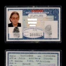 Documentos antiguos: C10-2 Nº 38.613.983 DIRECCION GENERAL DE SEGURIDAD CARNET DE IDENTIDAD EXPEDIDO EN MATARO (BARCEL. Lote 142111706
