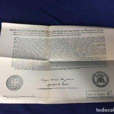 Documentos antiguos: DOCUMENTO INDULTO DE LA LEY DE AYUNO Y ABSTINENCIA LIMOSNA DE 10 PESETAS 1963. Lote 142400398