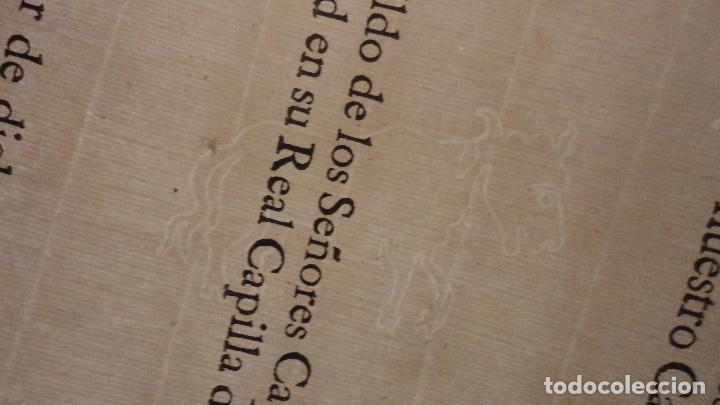 Documentos antiguos: ANTIGUO EDICTO.CAPELLAN MAYOR.REAL CAPILLA NUESTRA SEÑORA DE LOS REYES.SEVILLA SIGLO XVIII? - Foto 5 - 142468366