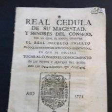 Documentos antiguos: PASE FORAL. SEÑORÍO DE VIZCAYA. AÑO 1771.. Lote 142705542