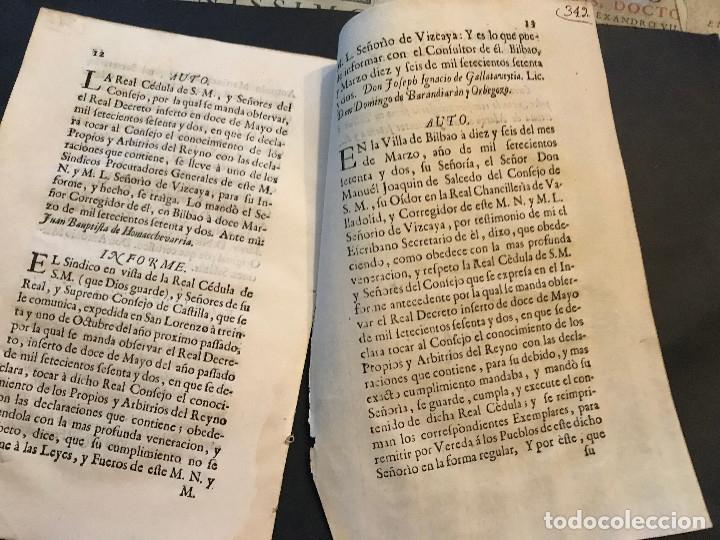Documentos antiguos: Pase foral. Señorío de Vizcaya. Año 1771. - Foto 2 - 142705542