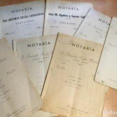 Documentos antiguos: LOTE CON DIVERSOS DOCUMENTOS ANTIGUOS DE NOTARÍA DE BARCELONA FECHADOS EN 1941,1957,1957,1989,1958... Lote 142783286
