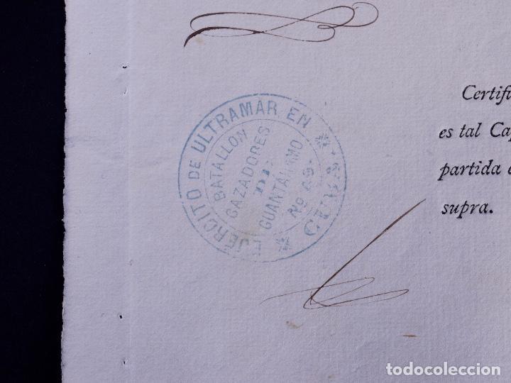 Documentos antiguos: EJÉRCITO DE ULTRAMAR GUANTANAMO, EN CUBA. MULA, MURCIA 1877 - Foto 3 - 142913422
