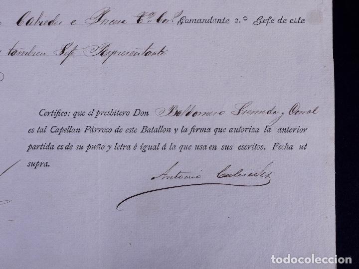 Documentos antiguos: EJÉRCITO DE ULTRAMAR GUANTANAMO, EN CUBA. MULA, MURCIA 1877 - Foto 4 - 142913422