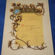 Documentos antiguos: DIPLOMA AL MERITO - ASOCIACIÓN DE BELENISTAS DE MADRID - IV CONCURSO - RADIO MADRID (1947). Lote 143007246