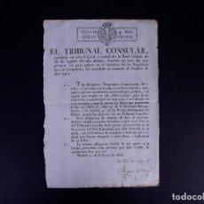 Documentos antiguos: REALES ORDENANZAS DE BILBAO, TRIBUNAL CONSULAR. MADRID 1828. Lote 143096942