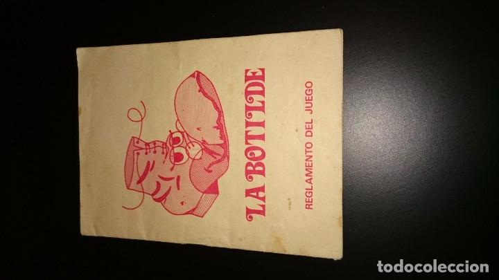 INSTRUCCIONES JUEGO DE LA BOTILLO. PROGRAMA UN, DOS, TRES. AÑOS 80 (Coleccionismo - Documentos - Otros documentos)