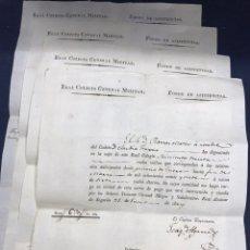 Documentos antiguos: 4 DOCUMENTOS REAL ALCAZAR DE SEGOVIA. 1827 FONDO DE ASISTENCIAS FIRMAS TENIENTE CORONEL, CAPITAN.... Lote 143315558