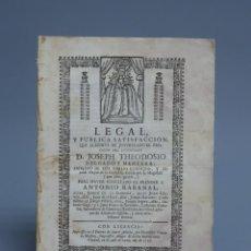 Documentos antiguos: DOCUMENTO SOBRE LADRONES FAMOSOS, SALTEADORES DE CAMINOS, HOMICIDAS...PTO. STA. MARÍA 1759. Lote 143630126