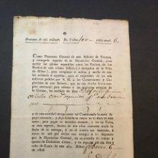 Documentos antiguos: RECIBO POR PRÉSTAMO DE VIZCAYA A LA CORONA. AÑO 1806.. Lote 143636146