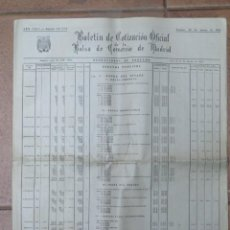 Documentos antiguos: BOLETIN OFICIAL DE COTIZACION OFICIAL DE LA BOLSA DE MADRID. 20 MARZO 1970. Lote 143837602