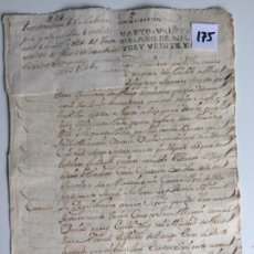 Documentos antiguos: TESTAMENTO EN ANTEQUERA , MÁLAGA , AÑO 1727. Lote 144095198
