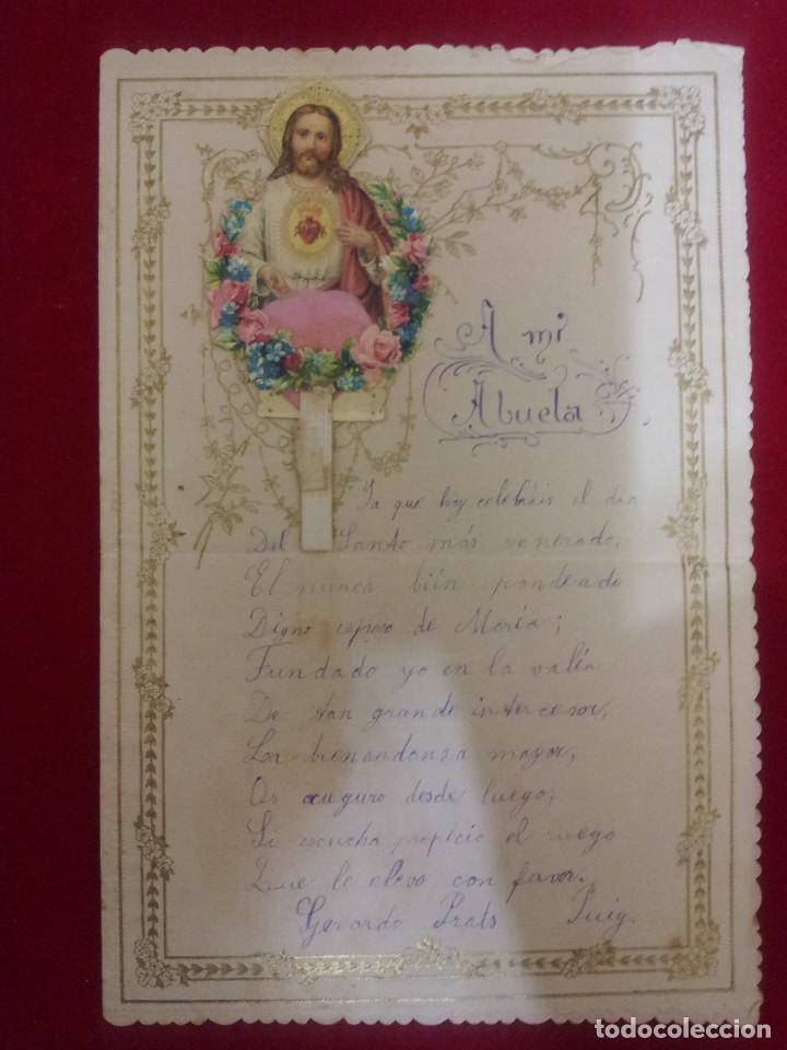 Documentos antiguos: AB-51.- LOTE DE -- 16 -- CARTAS DE FELICITACION MUCHAS CON RECORTABLES , VER FOTOS DE TODAS - Foto 11 - 144150578
