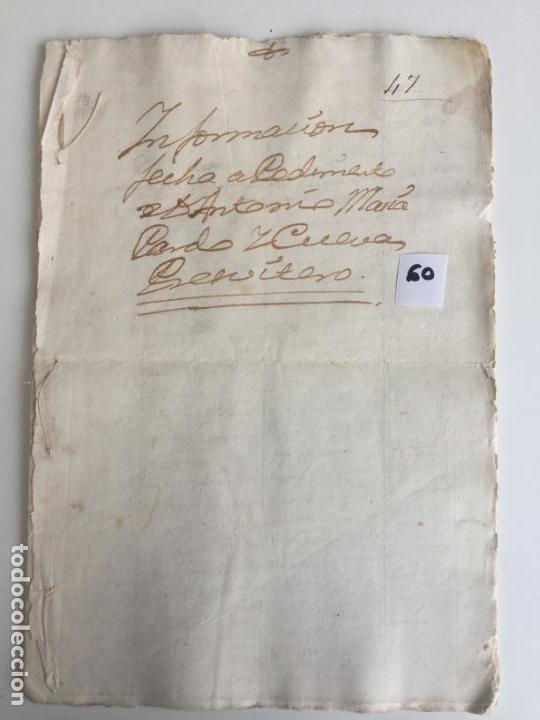 CERTIFICADO EN ANTEQUERA , MÁLAGA , 1771 (Coleccionismo - Documentos - Otros documentos)