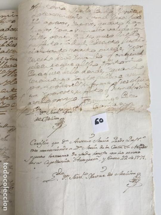 Documentos antiguos: CERTIFICADO EN ANTEQUERA , MÁLAGA , 1771 - Foto 3 - 144225514