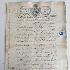 Documentos antiguos: ESCRITURA DE ALQUILER DE CORTIJO EN ANTEQUERA , MÁLAGA , 1831. Lote 144238906