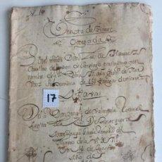 Documentos antiguos: VENTA DE TIERRAS EN ANTEQUERA , MÁLAGA , 1668. Lote 144239242