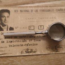 Documentos antiguos: CARNET FERROVIARIO, RED NACIONAL DE LOS FERROCARRILES ESPAÑOLES, 1957. Lote 144265740