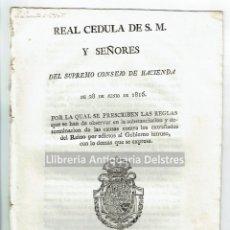 Alte Dokumente - [Real Cedula. 1816. Hacienda. Bienes de los expatriados afines al Gobierno Intruso] Fernando VII. - 144374682