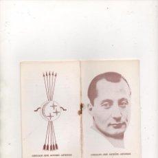 Documentos antiguos: PROGRAMA DE CÍRCULOS J. ANTONIO DE 8 PÁGINAS. Lote 145386189