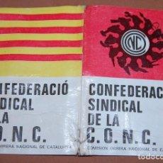 Documentos antiguos: CARNET CONFEDERACION SINDICAL DE LA CONC CATALUÑA AÑO 1977. Lote 144643010