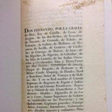 Documentos antiguos: REAL DECRETO FERNANDO VII CONVOCA CORTES GENERALES EN LA ISLA DE LEON, ELECCION DIPUTADOS, 1810. Lote 144690586