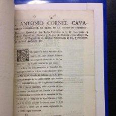 Documentos antiguos: INFORME SOBRE MILICIAS URBANAS DE MALLORCA, 1797, ANTONIO CORNEL, POLICIA LOCAL. Lote 144694386