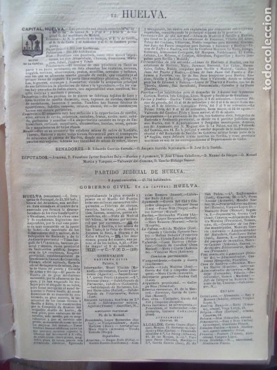 HUELVA.-ANUARIO DEL COMERCIO.-INDUSTRIA.-COMERCIO.-TIENDAS.-MADRID.-BAILLY-BAILLIERE.-AÑO 1905. (Coleccionismo - Documentos - Otros documentos)