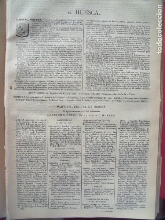 HUESCA.-ANUARIO DEL COMERCIO.-INDUSTRIA.-COMERCIO.-TIENDAS.-MADRID.-BAILLY-BAILLIERE.-AÑO 1905. (Coleccionismo - Documentos - Otros documentos)