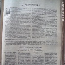Documentos antiguos: PONTEVEDRA.-ANUARIO DEL COMERCIO.-INDUSTRIA.-COMERCIO.-TIENDAS.-MADRID.-BAILLY-BAILLIERE.-AÑO 1905.. Lote 144767046